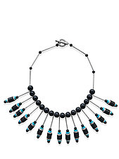 Cleopatra's Spools by Barb Mason (Mixed-Media Necklace)