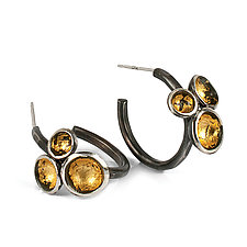 Acacia Cluster Hoops by Emily  Hunziker Phillips (Gold & Silver Earrings)