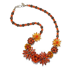 Orange Love Necklace by Kathryn Bowman (Beaded Necklace)