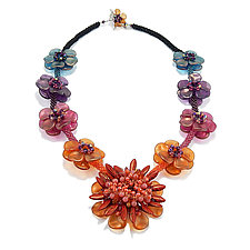 Flower Show Necklace by Kathryn Bowman (Beaded Necklace)