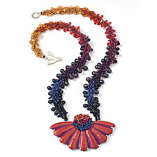 Sunset Romance Necklace by Kathryn Bowman (Beaded Necklace)