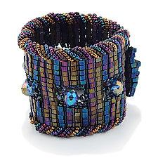 Aurora Bracelet Cuff by Kathryn Bowman (Beaded Bracelet)