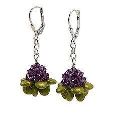 Succulent Bloom Earrings by Kathryn Bowman (Beaded Earrings)