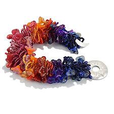 Sunset Fringe Bracelet by Kathryn Bowman (Beaded Bracelet)