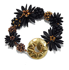 Black Gold Bracelet by Kathryn Bowman (Glass Bead Bracelet)