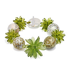 Green Spice Bracelet by Kathryn Bowman (Beaded Bracelet)