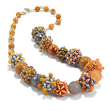 Mellow Tune Necklace by Kathryn Bowman (Glass Bead Necklace)