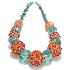 Ocean Sunset Necklace by Kathryn Bowman (Beaded Necklace)