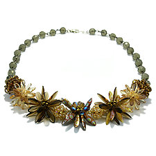 Flower Garden Necklace by Kathryn Bowman (Beaded Necklace)