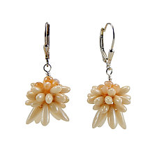 Petal Point Earrings by Kathryn Bowman (Beaded Earrings)