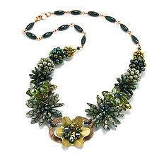 Green Glory Necklace by Kathryn Bowman (Beaded Necklace)