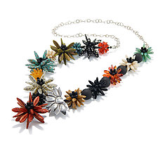 Daisy Field Necklace by Kathryn Bowman (Beaded Necklace)