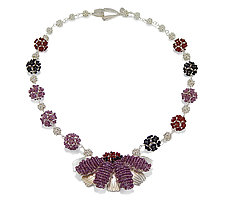 Noble Coneflower Necklace by Kathryn Bowman (Beaded Necklace)