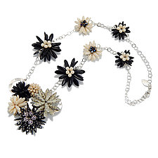 Floral Contrast Necklace by Kathryn Bowman (Beaded Necklace)