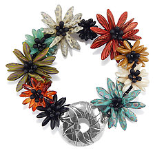 Daisy Patch Bracelet by Kathryn Bowman (Beaded Bracelet)