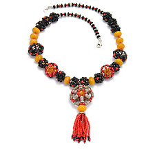 Express Necklace by Kathryn Bowman (Beaded Necklace)