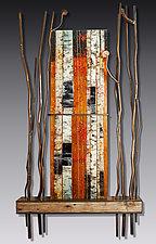 Autumn Majesty by Leslie W. Friedman (Art Glass Wall Sculpture)
