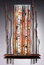Autumn Reverence by Leslie W. Friedman (Art Glass Wall Sculpture)