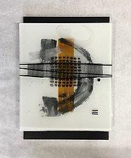 Amber Zen II by Leslie W. Friedman (Art Glass Wall Sculpture)