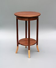 Heron by Tracy Fiegl (Wood Side Table)
