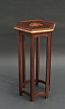 Bazaar by Tracy Fiegl (Wood Pedestal Table)