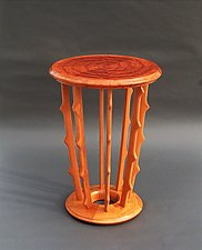 Pool Ripple Drip by Tracy Fiegl (Wood Side Table)