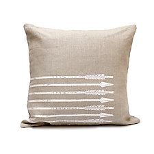 Arrows by Helene  Ige (Linen Pillow)