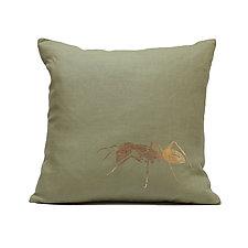 Ant by Helene  Ige (Linen Pillow)