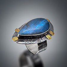 Royal Blue Labradorite Ring by Patricia McCleery (Gold, Silver & Stone Ring)