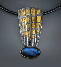 Labradorite Pendant by Patricia McCleery (Gold, Silver & Stone Necklace)