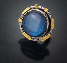 Sculpted Labradorite Ring by Patricia McCleery (Gold, Silver & Stone Ring)