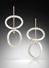 Kinetic Mid-Century Earrings by Amerinda Alpern (Gold & Silver Earrings)