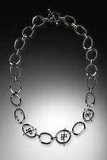 Ovals & Squares Necklace by Amerinda Alpern (Gold & Silver Necklace)