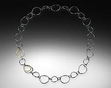 Lotus Lines Necklace by Amerinda Alpern (Gold & Silver Necklace)