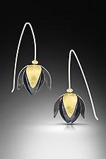 Blooming Lotus Earrings by Amerinda Alpern (Gold & Silver Earrings)