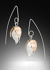 Fuchsia Earrings by Amerinda Alpern (Silver & Bronze Earrings)