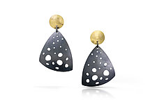 Sandy-Sun Earrings by Amerinda Alpern (Gold & Silver Earrings)