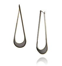 Drip Hoops by Caitie Sellers (Silver & Copper Earrings)