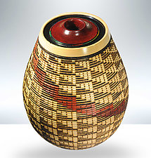 Heartline Vessel by Keoni Carlson (Wood Sculpture)