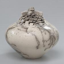 Block Pot by Jeff Margolin (Ceramic Vessel)