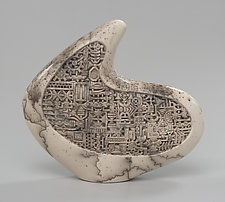 Hooked Disk by Jeff Margolin (Ceramic Sculpture)