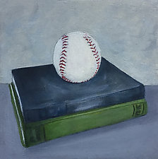 Books and Baseball by B. St. Marie Nelson (Oil Painting)