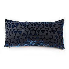 Triangles Velvet Mini Boudoir Pillow by Kevin O'Brien (Silk Velvet Pillow)