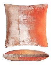 Colorblock Velvet Pillow by Kevin O'Brien (Silk Velvet Pillow)