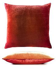 Set of Two Two-Tone Ombre Velvet Pillows by Kevin O'Brien (Silk Velvet Pillow)