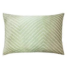 Chevron Velvet Lumbar Pillow by Kevin O'Brien (Silk Velvet Pillow)
