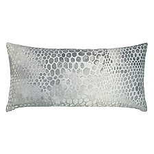 Snakeskin Velvet Long Lumbar Pillow by Kevin O'Brien (Silk Velvet Pillow)