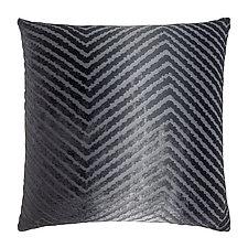 Chevron Velvet Pillow by Kevin O'Brien (Silk Velvet Pillow)