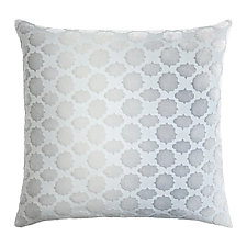 Large Mod Fretwork Velvet Pillow by Kevin O'Brien (Silk Velvet Pillow)