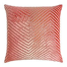 Chevron Velvet Pillow by Kevin O'Brien (Silk Velvet Pillow)